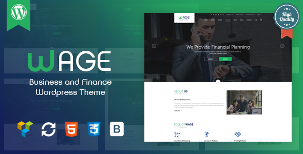 Image of Wage - Business and Finance WordPress Theme
