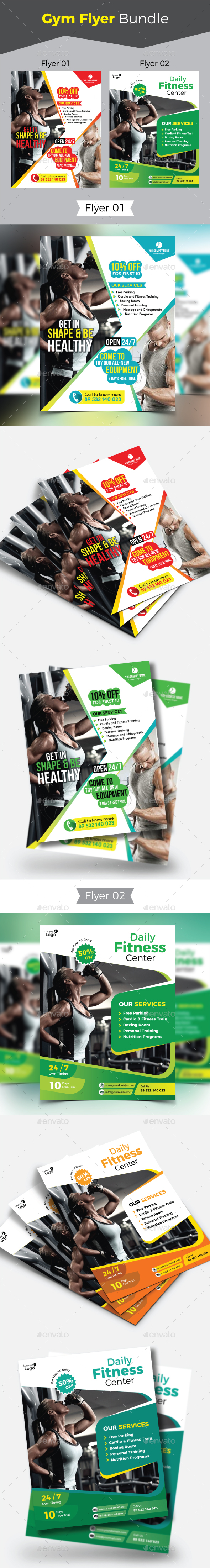 Gym Flyer Bundle - Sports Events