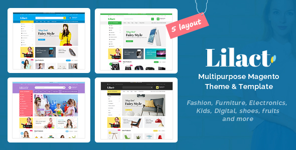 Lilac - Fashion, Apparel Store Responsive Magento Theme