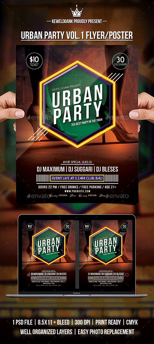 GraphicRiver Urban Party Vol.1 flyer Poster 20833660