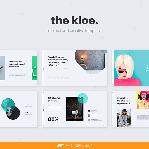 KLOE Minimal & Creative Template (Powerpoint) - Creative PowerPoint Templates