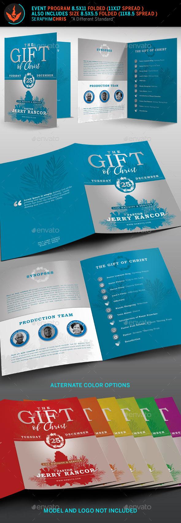 The Gift of Christ Christmas Program Template - Informational Brochures