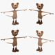 Cartoon Mouse 01-02 (RIGGED T-POSE) - 3DOcean Item for Sale