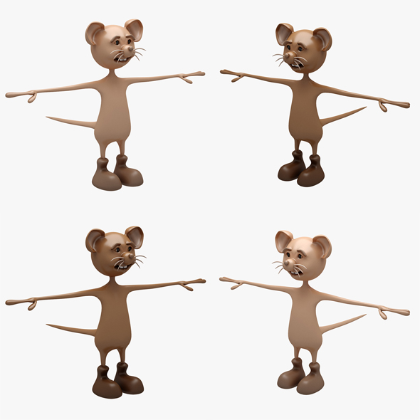 3DOcean Cartoon Mouse 01-02 RIGGED T-POSE 20833754