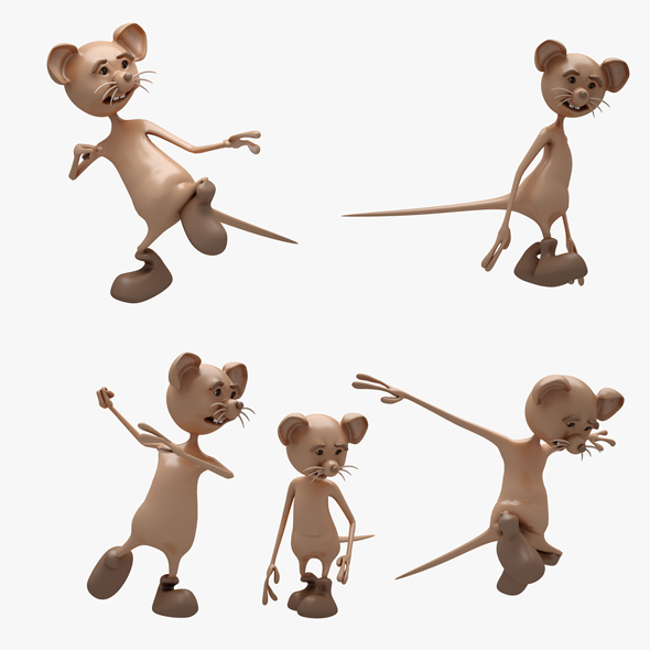 3DOcean Cartoon Mouse 01 5 POSE 20833823