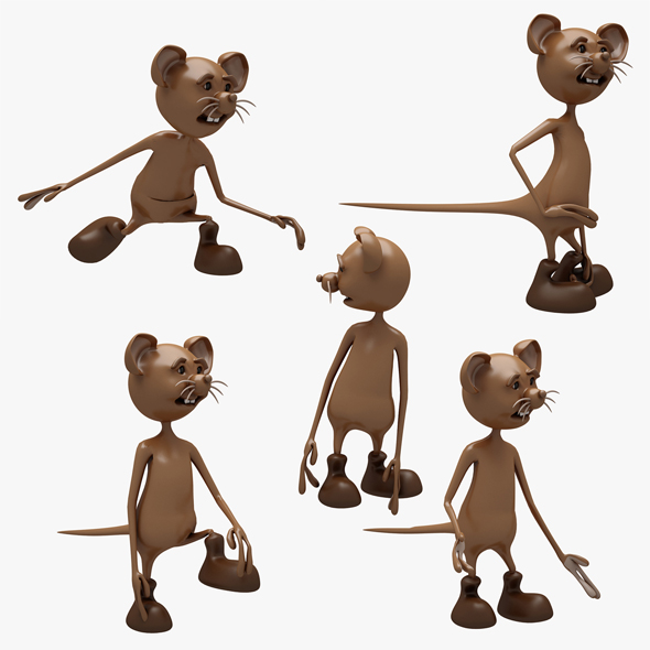 3DOcean Cartoon Mouse 02 5 POSE 20833845