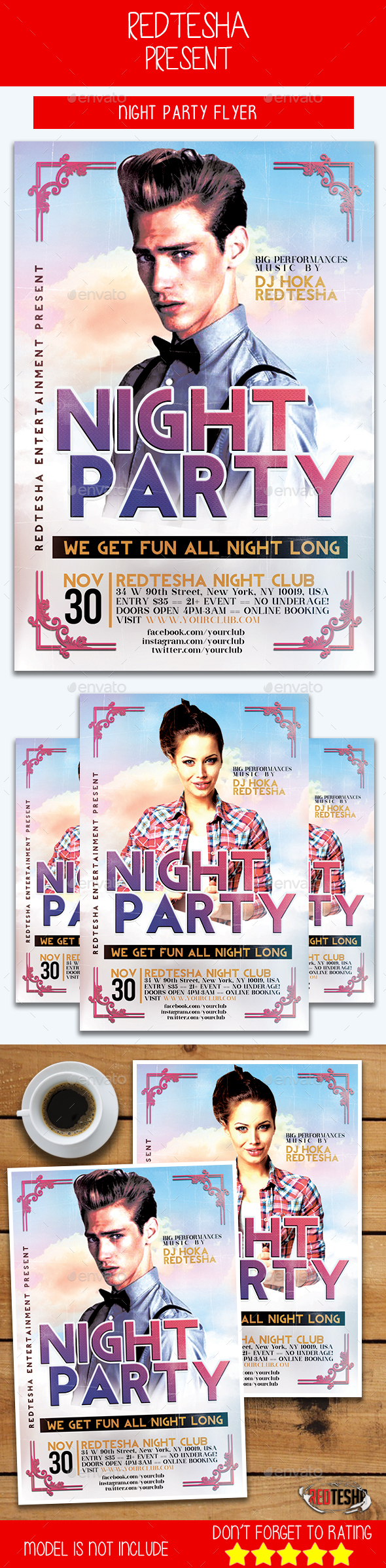 GraphicRiver Night Party Flyer 20809540