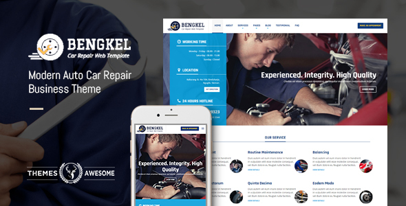 Bengkel - Modern Auto Car Repair Business Theme - Business Corporate