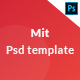 Mit landingpage psd template - ThemeForest Item for Sale
