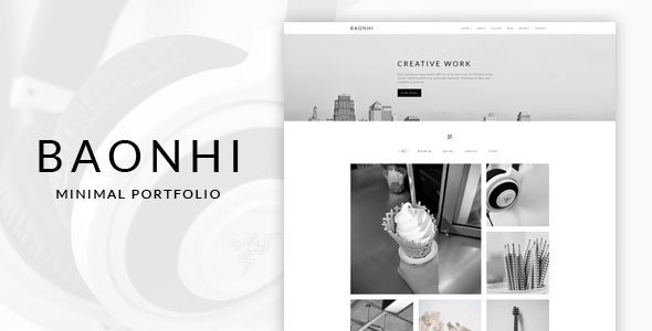 Image of Baonhi - Minimal Portfolio WordPress Theme