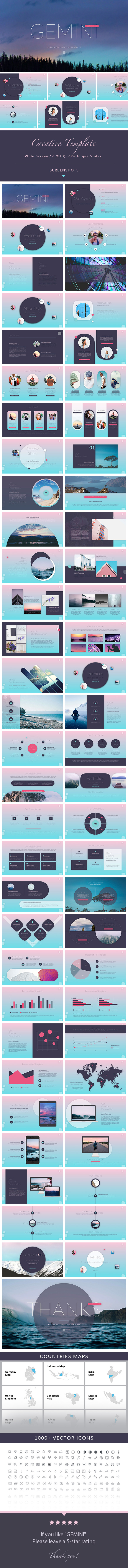GraphicRiver GEMINI Creative PowerPoint Presentation Template 20834388