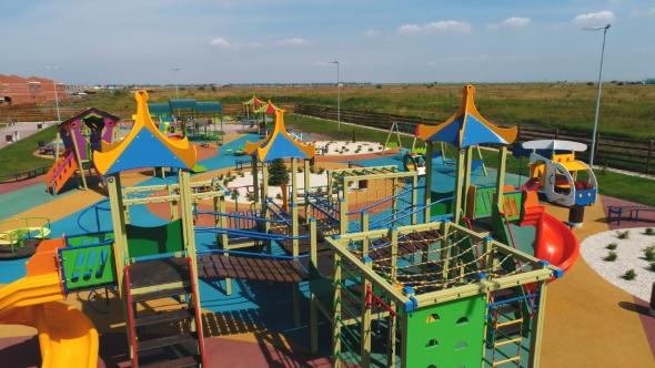 Childrens Playground in the Modern Village by NewAgeCinemaru