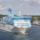 Cruise vessel on the baltic sea. Aland island harbor. Travel - PhotoDune Item for Sale