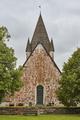 St. Mikacis church, Finstrom. Aland archipelago. Finland heritage. Vertical