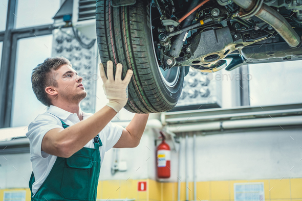 Mechanic in uniform - Stock Photo - Images