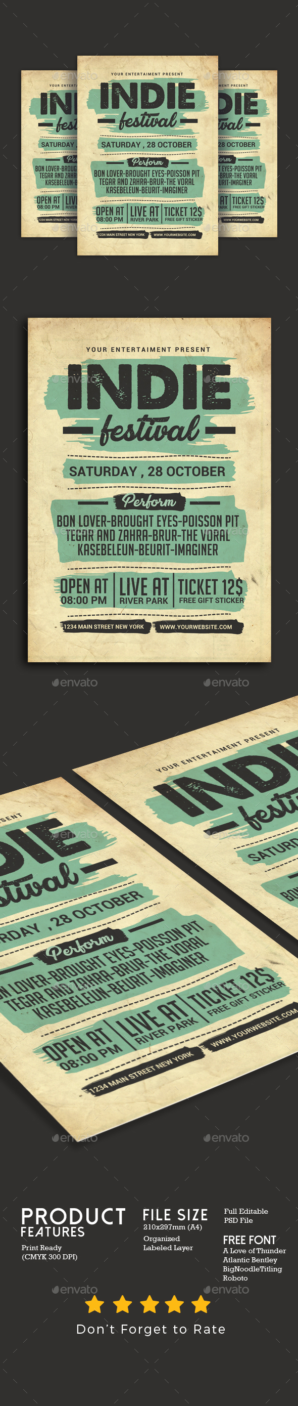 GraphicRiver Indie Music Festival Flyer 20834583