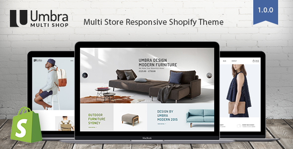 ThemeForest Umbra Multi Store Responsive Shopify Theme 20689160