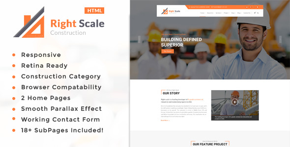 Image of Right Scale - Construction Business HTML Template