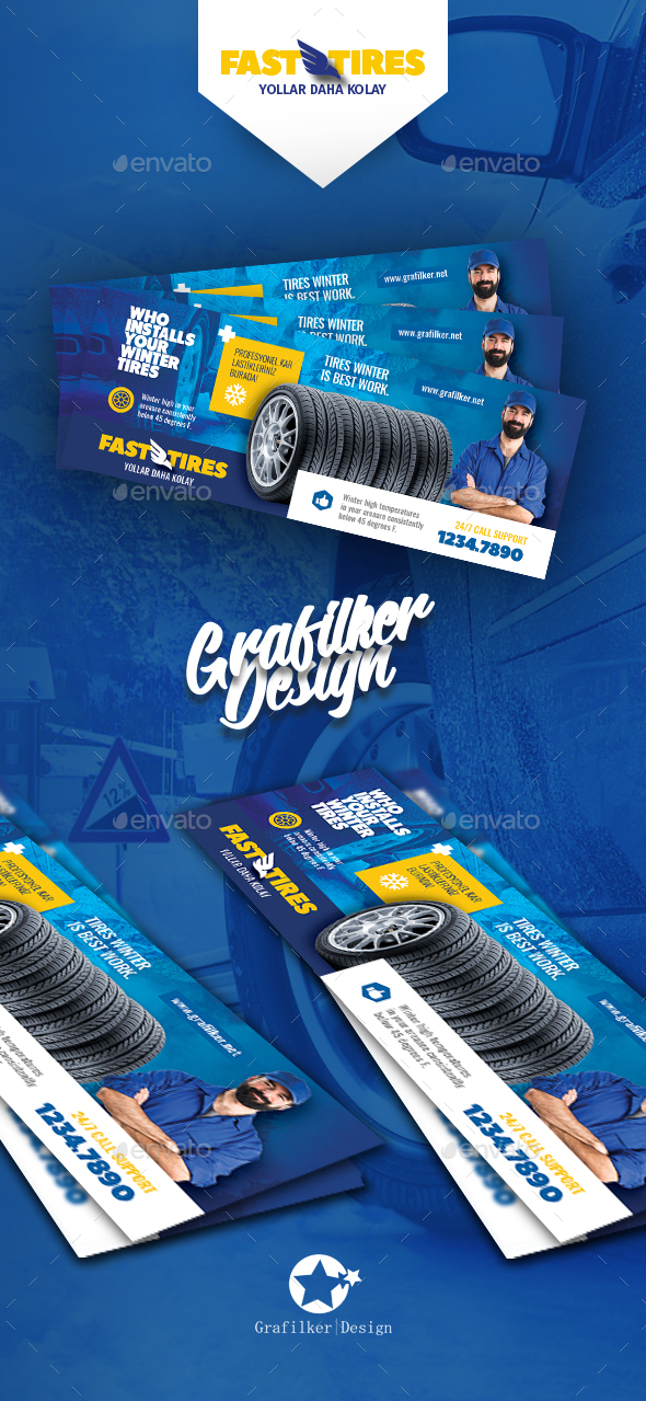 GraphicRiver Auto Tires Cover Templates 20834646