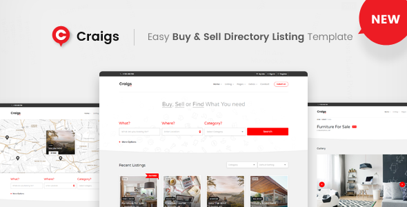 Image of Craigs - Easy Buy & Sell Directory Template