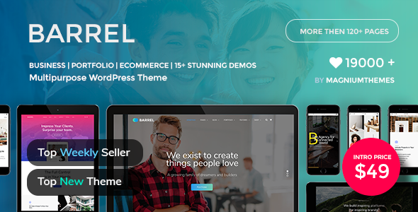 Barrel - Creative Responsive Multi-Purpose WordPress Theme - Business Corporate