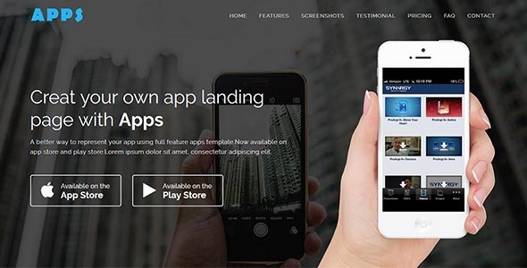 Image of APPS - Responsive App Landing WordPress Theme