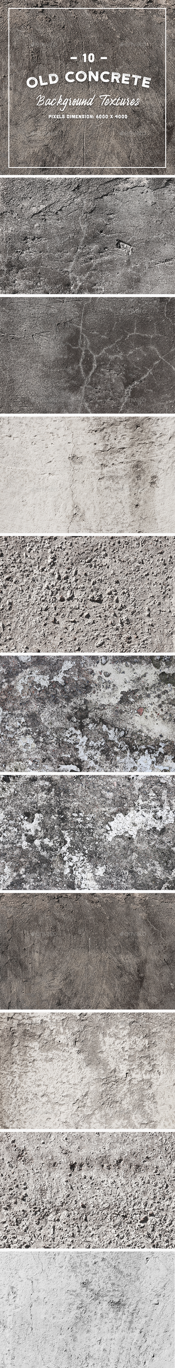 10 Old Concrete Background Textures - Stone Textures