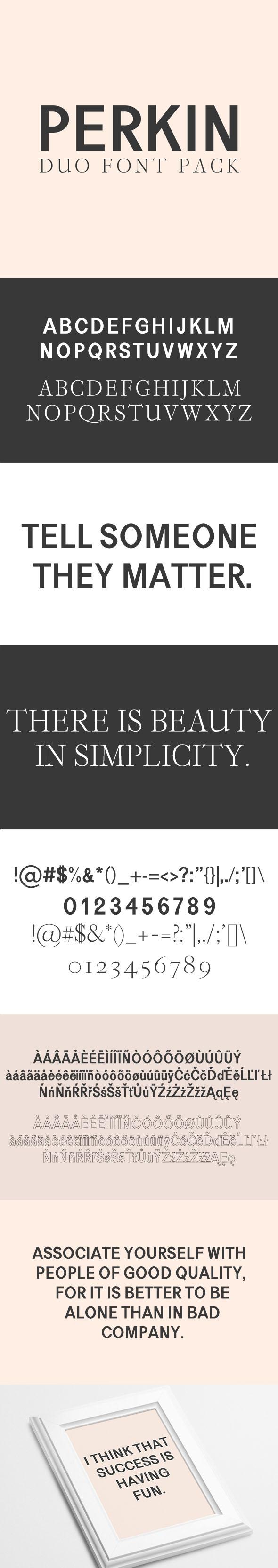 GraphicRiver Perkin Duo Font 20835035