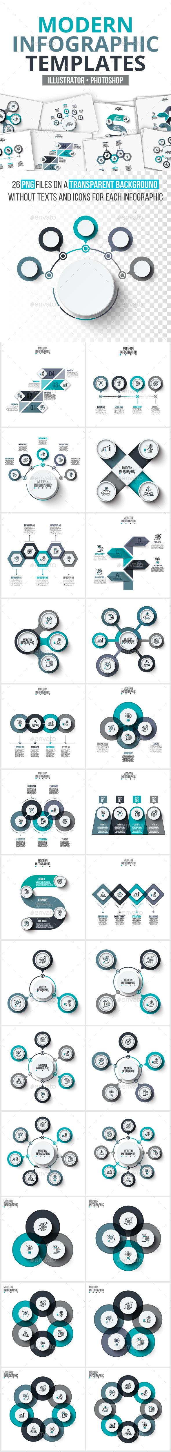 GraphicRiver Modern infographic pack 20835128