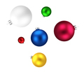 Christmas balls isolated on white