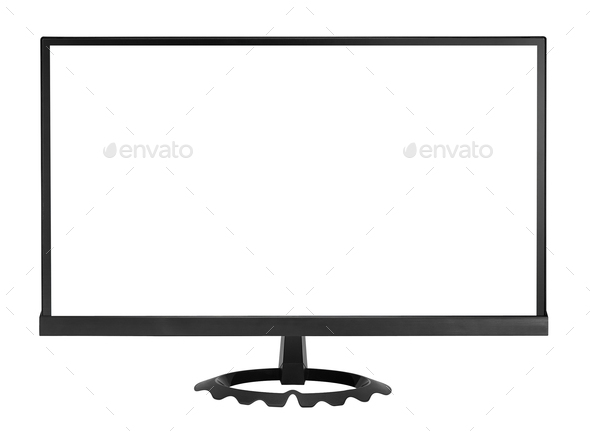 HD monitor isolated - Stock Photo - Images