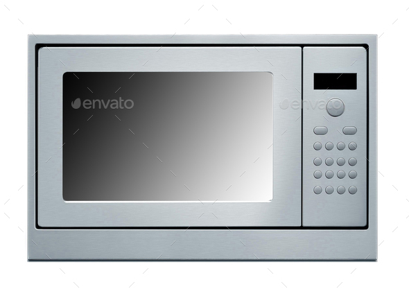 Microwave isolated on white - Stock Photo - Images