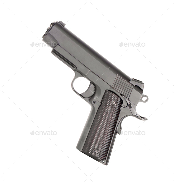 Pistol isolated - Stock Photo - Images