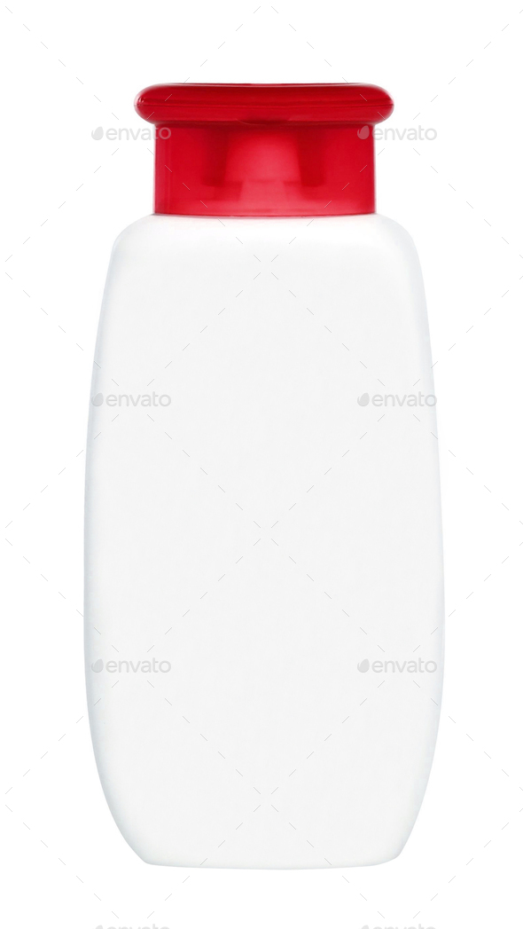 Plastic bottle of body care and beauty products - Stock Photo - Images