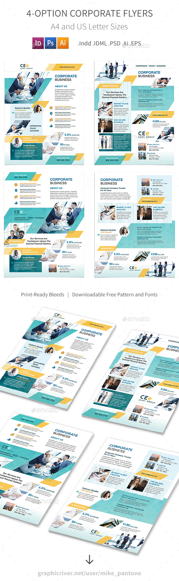 GraphicRiver Corporate Business Flyers 5 4 Options 20835436