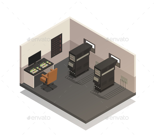 GraphicRiver Empty Cinema Projectionist Room 20835444