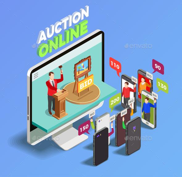 Gadgets on Auction Concept - Industries Business