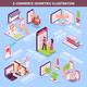 Electronic Commerce Isometric Infographics