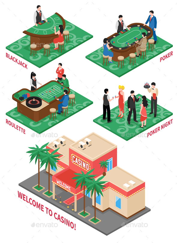Casino Isometric Elements Set - Sports/Activity Conceptual