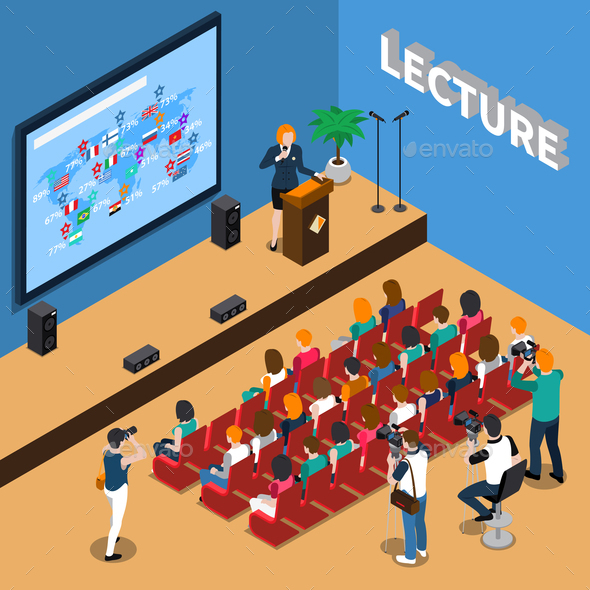 GraphicRiver Lecture Isometric Composition 20835518