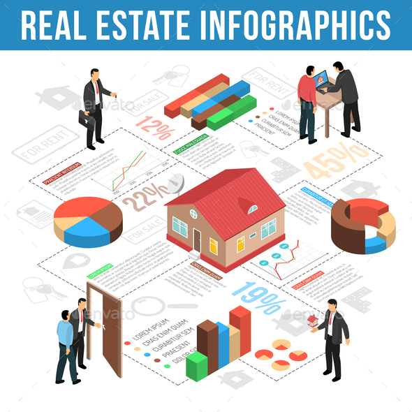 GraphicRiver Real Estate Agency Isometric Infographics 20835539