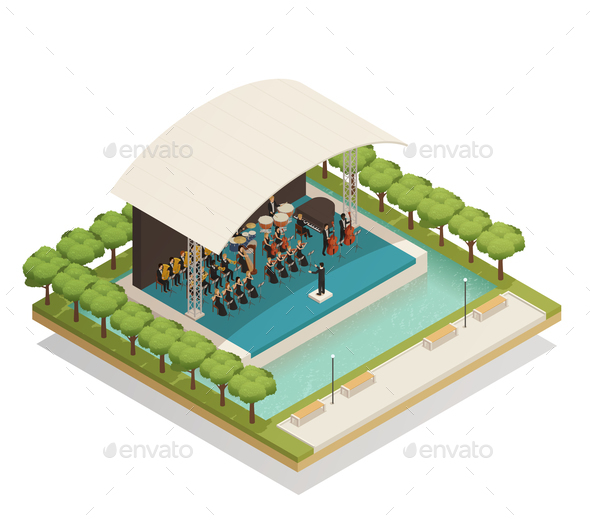 GraphicRiver Orchestra Isometric Composition 20835548