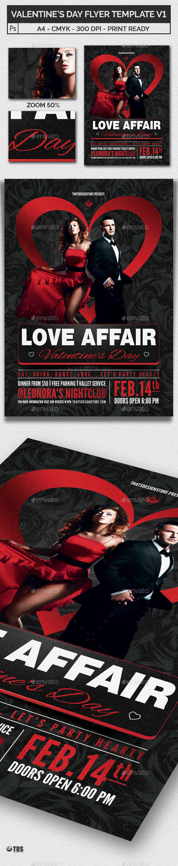 Valentines Day Flyer Template V1 - Flyers Print Templates