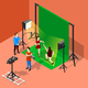 Chromakey Shooting Isometric Composition