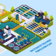 Waste Water Treatment Isometric Composition