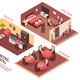 Isometric Hotel Illustration - GraphicRiver Item for Sale