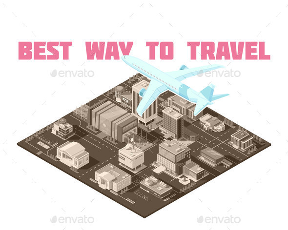 GraphicRiver Air Travel Isometric Poster 20835588