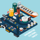 Semiconductor Electronic Components Seaport - GraphicRiver Item for Sale