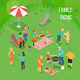 Family Picnic Isometric Illustration - GraphicRiver Item for Sale