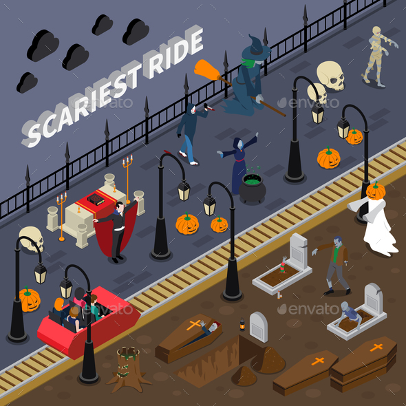 GraphicRiver Monster Halloween Colored Composition 20835779